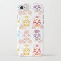 sugar skulls iPhone & iPod Cases featuring Sugar Skulls by Bird & Bow Studios