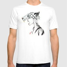 The Masquerade:  The Siberian Mens Fitted Tee White MEDIUM