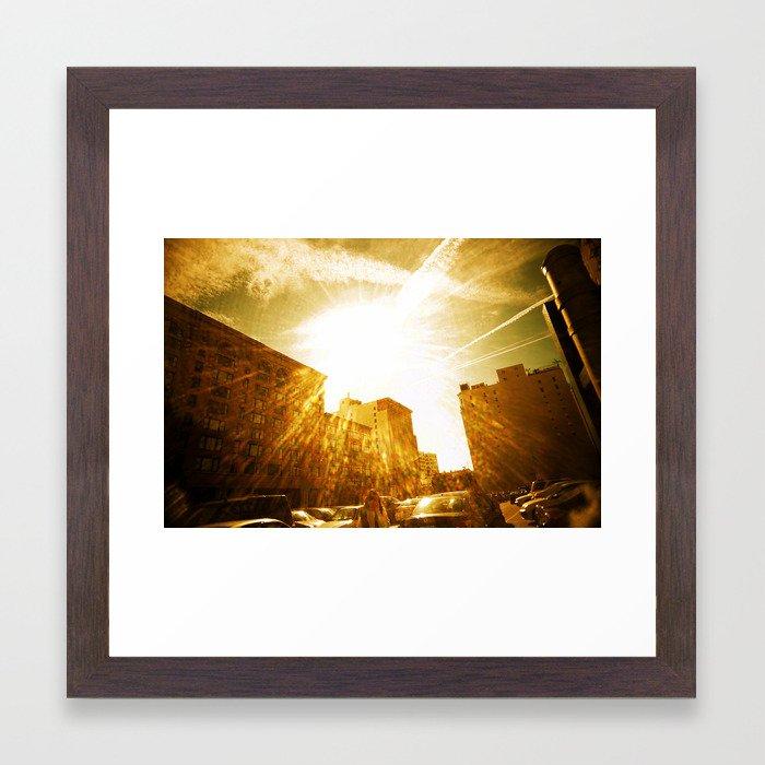 The Golden Sun Shines on Los Angeles Framed Art Print