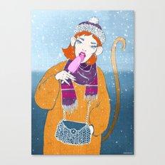 Ice Monkey Canvas Print
