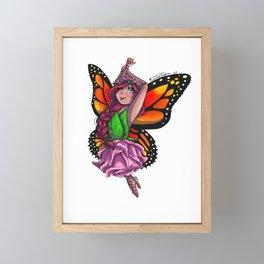 Fairy Girl - Monarch Butterfly Framed Mini Art Print