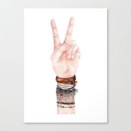 Peace Hand Symbol Canvas Print