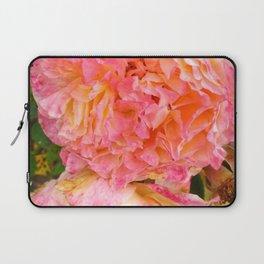 Folded Pink and Orange Rose Laptop Sleeve