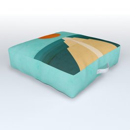The Road Less Traveled Outdoor Floor Cushion