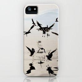 dancing birds iPhone Case
