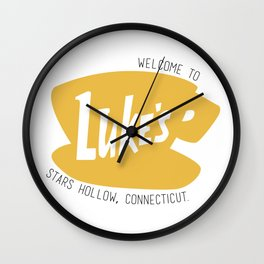 Lukes Diner Wall Clock