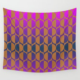1974, magenta and brown Wall Tapestry