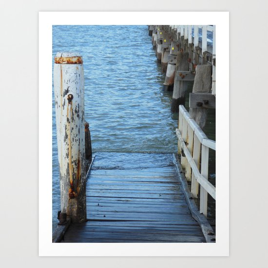 Down by the Pier Art Print