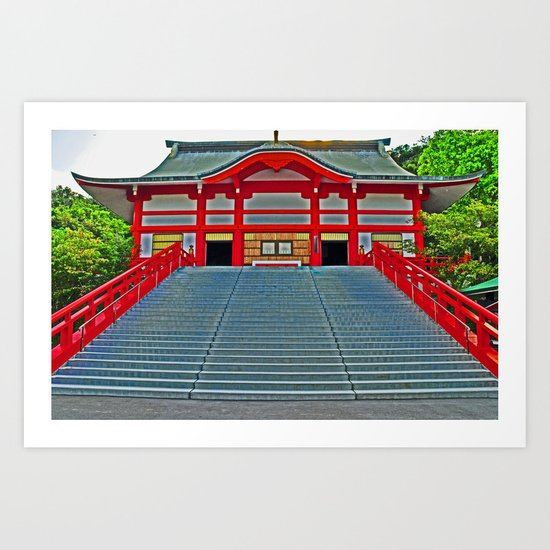Red Temple Art Print