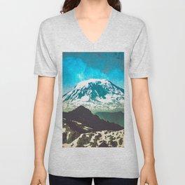 Mt Adams from Mt Rainier Washington State - Nature Photography Unisex V-Neck