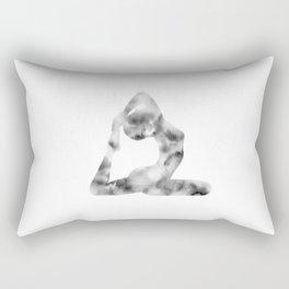 Yoga | King Pigeon Pose | Eka Pada Rajakapotasana Pose | B&W | Meditation | Youth | Happiness | Longevity Rectangular Pillow