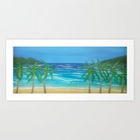 Secluded Beach Art Print