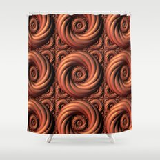 Copper Coils Shower Curtain