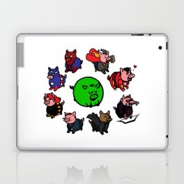 Pig-vengers Assemble! (White) Laptop & iPad Skin