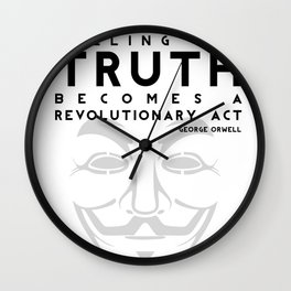Truth Revolution - V for Vendetta Wall Clock
