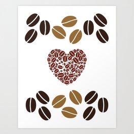 Crazy for Coffee  Art Print