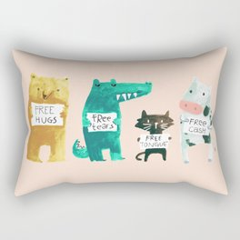 Animal idioms - its a free world Rectangular Pillow