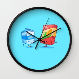 Milk and Corn (Best friends. Character set.) Wall Clock