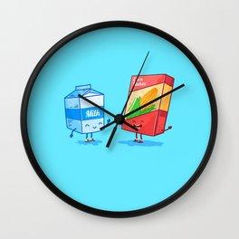 Milk and Corn (Best friends. Character set.) Wall Clock