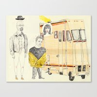breaking bad Canvas Prints featuring Breaking Bad by withapencilinhand