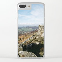 View from Curbar Edge. Derbyshire, UK. Clear iPhone Case