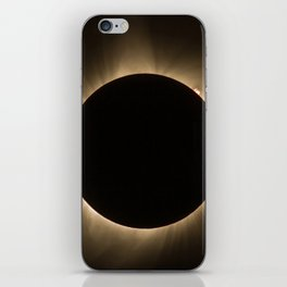 Flares - Total Solar Eclipse with Subdued Corona and Sun Bursts iPhone Skin