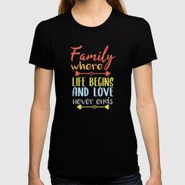 Saying Family T-shirt