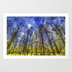 Fantasy Art Forest Art Print