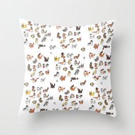 Fancy Cats Throw Pillow