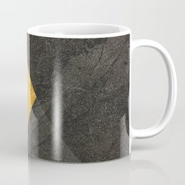 Yellow and Grey - Triangle Coffee Mug