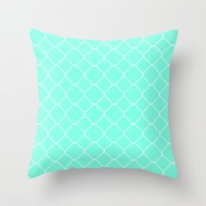 Mint Moroccan Throw Pillow