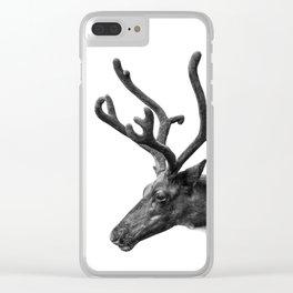 Animal Photography | Reindeer Minimalism | Antlers Christmas | Rudolf Clear iPhone Case