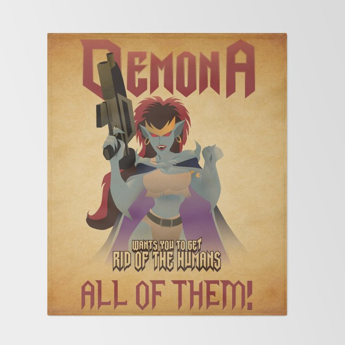 Demona Propganda Throw Blanket