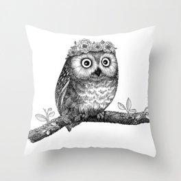 A Little Saw-whet Throw Pillow