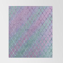 Mermaid Princess Glitter Scales Glam #1 #shiny #stripes #decor #art #society6 Throw Blanket