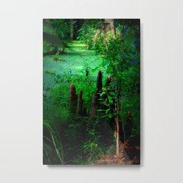 Green Knobby Knees Metal Print