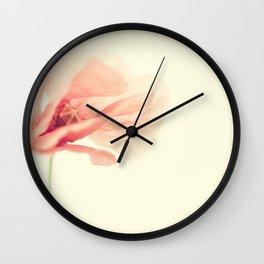 Wild Poppy Wall Clock