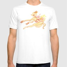 Study of Dancer 6 en l'air MEDIUM White Mens Fitted Tee