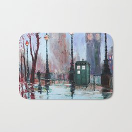 dr who art painting Bath Mat