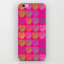 neon hearts  iPhone Skin