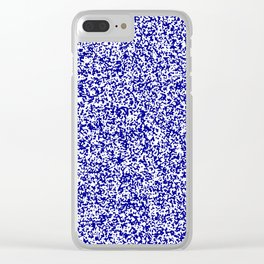 Tiny Spots - White and Dark Blue Clear iPhone Case