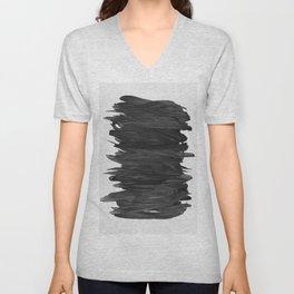 Abstract Minimalism #2 #minimal #ink #decor #art #society6 Unisex V-Neck