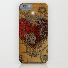Steampunk, awesome heart iPhone Case