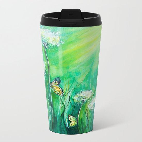 The color of summer Metal Travel Mug
