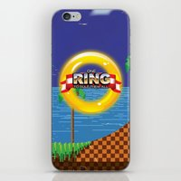 video game iPhone & iPod Skins featuring Retro Platform Video game poster  by Nick's Emporium Gallery