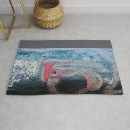 Paint And Texture In Red White Blue Rug