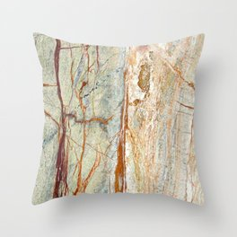 Colorful Textured Granite Throw Pillow