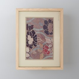 Verneuil - Japanese paper and fabric designs (1913) - 65: Peonies Framed Mini Art Print