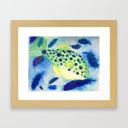 Swimming in a Sea of Feathers Framed Art Print