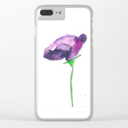 """""""Lisianthus""""  in Watercolor Clear iPhone Case"""